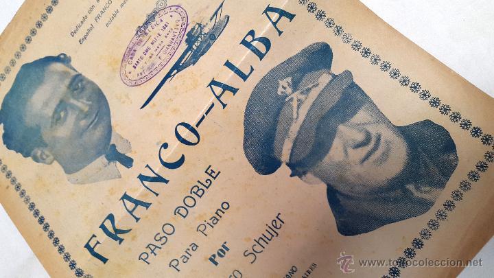 Partituras musicales: RAMÓN FRANCO - PASODOBLE - HOMENAJE PLUS ULTRA - 1926 - Foto 4 - 53101049