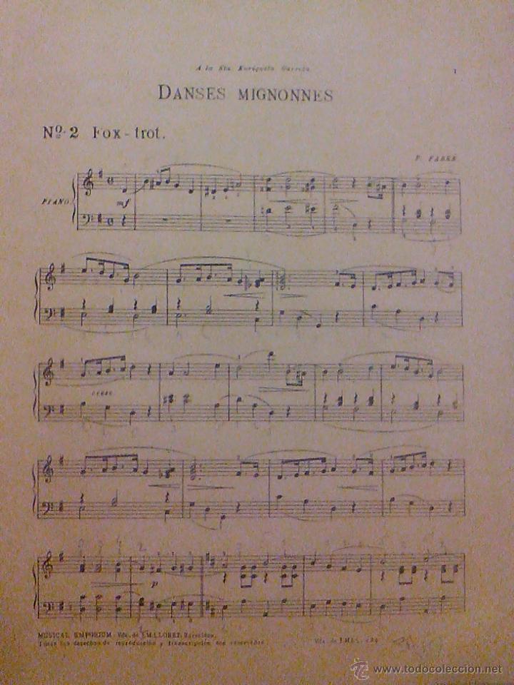 Partituras musicales: ANTIGUA PARTITURA DANSES MIGNONNES FOX - TROT - Foto 2 - 53159595