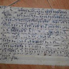 Partituras musicales: PARTITURAS ANTIGUAS MANUSCRITAS LA DIVA Y GUERRA ALEGRE PASODOBLE. Lote 53162885