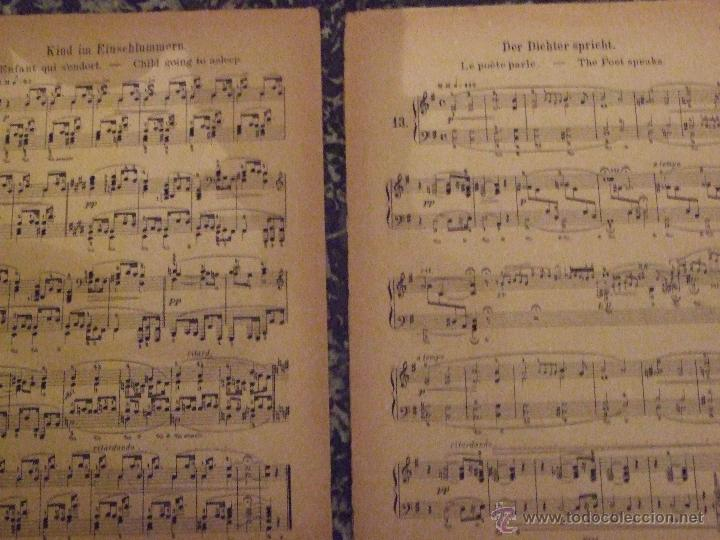 Partituras musicales: PARTITURA DE ROBERT SCHUMANN - KINDERSZENEN - CIRCA 1900 - Foto 2 - 53207091