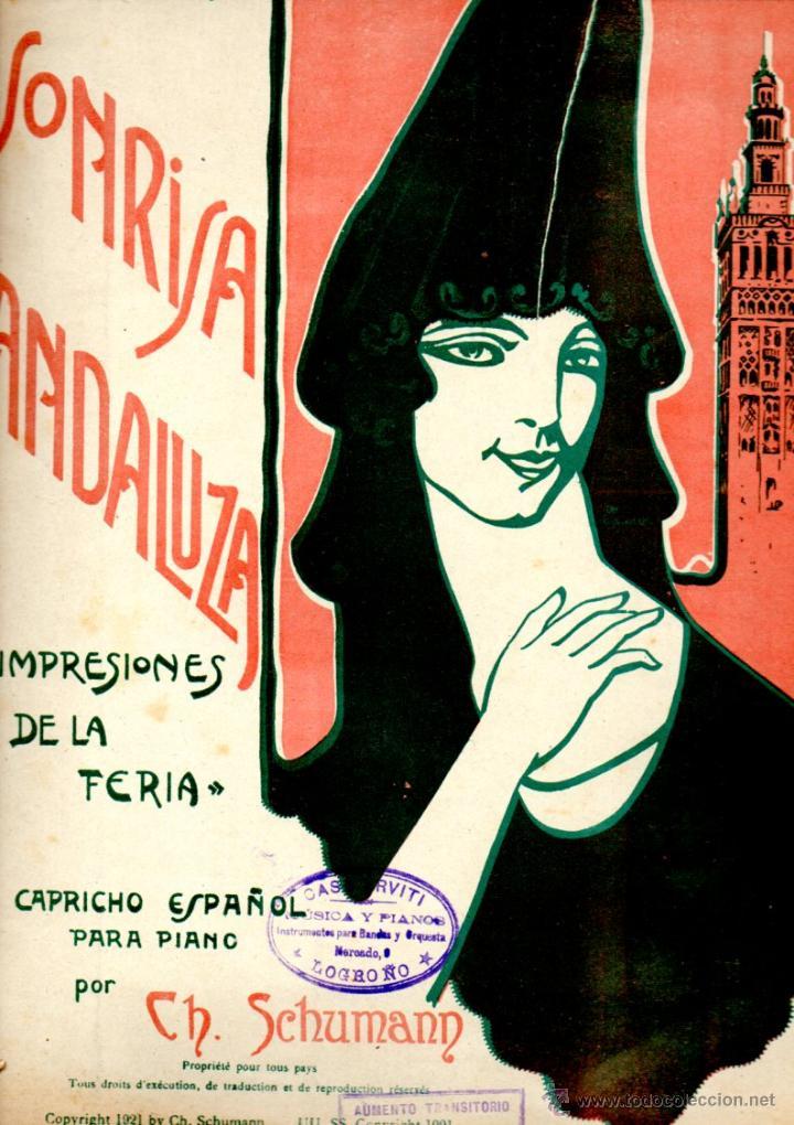 SCHUMANN : SONRISA ANDALUZA IMPRESIONES DE LA FERIA - CAPRICHO ESPAÑOL PARA PIANO (BOILEAU, 1921) (Música - Partituras Musicales Antiguas)