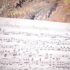 Partituras musicales: EL TORERO PASODOBLE PARTITURA MANUSCRITA SIGLO XIX VIOLIN 1º Y MARCHA HONGROISE. Lote 53241146