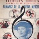 Partituras musicales: QUINTERO LEON QUIROGA : ROMANCE DE LA REINA MERCEDES - CONCHITA PIQUER. Lote 114986882