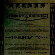 Partituras musicales: SCHMOLL : NUEVO MÉTODO DE PIANO PRIMERA PARTE - 30 LECCIONES (1922). Lote 53283620