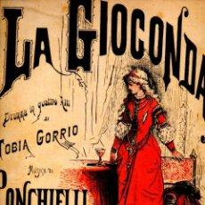 Partituras musicales: PONCHIELLI : LA GIOCONDA (RICORDI). Lote 53283637