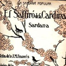 Partituras musicales: VICENS BOU : EL SALTIRÓ DE LA CARDINA - SARDANA - ILUSTRACIÓN DE JUNCEDA. Lote 53284563