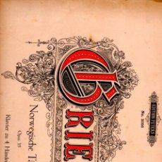 Partituras musicales: GRIEG : NORWEGISCHE TÄNZE OPUS 35 (PETERS, LEIPZIG). Lote 53284813