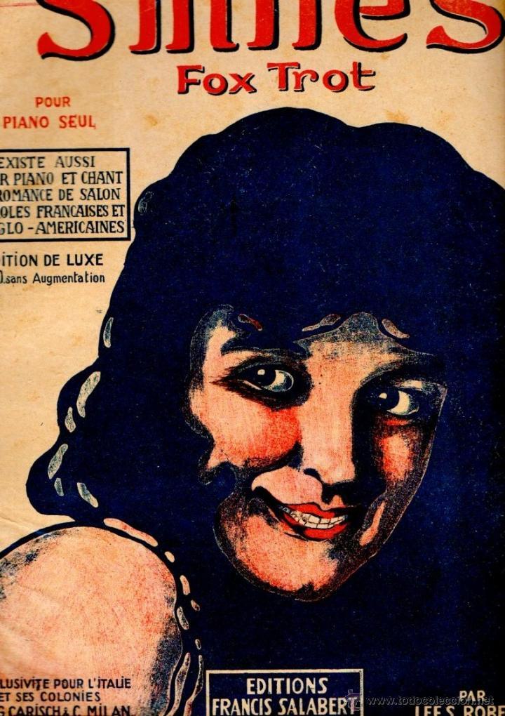 LEE S. ROBERTS : SMILES - FOX TROT (Música - Partituras Musicales Antiguas)