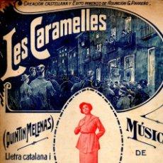 Partituras musicales: JOAN MISTERIO : LES CARAMELLES - QUINTIN MELENAS. Lote 74531007