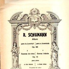 Partituras musicales: SCHUMANN : ALBUM PARA LA JUVENTUD Y ESCENAS DE NIÑOS (BOILEAU). Lote 53322263