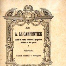 Partituras musicales: CARPENTIER : CURSO DE PIANO I (BOILEAU). Lote 53322303