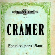 Partituras musicales: CRAMER : ESTUDIOS PARA PIANO III (BOILEAU). Lote 53322346