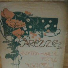 Partituras musicales: CAREZZE - BOSTON VALSE - S. BARTOLI - CASA DOTESIO 1907. Lote 53374587