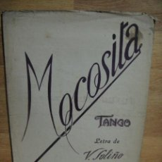 Partituras musicales: MOCOSITA , TANGO - LETRA DE V. SOLIÑO - MUSICA DE M. RODRIGUEZ. Lote 53449916