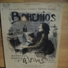 Partituras musicales: BOHEMIOS , Nº 2 - A. VIVES - CASA DOTESIO. Lote 53460297