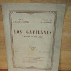 Partituras musicales: LOS GAVILANES ,Nº 7 ESCENA DE LA FLOR - JACINTO GUERRERO. Lote 53465069