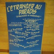 Partituras musicales: L'ESTRANGER AU PARADIS - . Lote 53475049