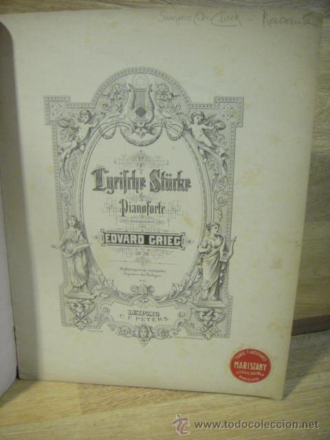 Partituras musicales: grieg - piezas liricas , op. 38 - edicion c. f. peters - Foto 2 - 53516194