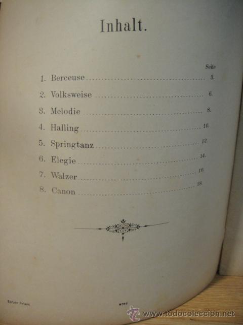 Partituras musicales: grieg - piezas liricas , op. 38 - edicion c. f. peters - Foto 3 - 53516194