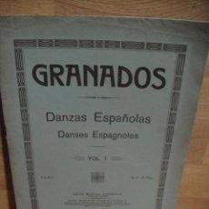 Partituras musicales: GRANADOS - DANZAS ESPAÑOLAS PARA PIANO VOL. I - UNION MUSICAL , CASA DOTESIO. Lote 53560738