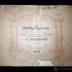 Partituras musicales: PARTITURA 12 PIEZAS PARA PIANO A 4 MANOS, OP. 51 POR A. LÖSCHHORN. C.F. PETERS. REF. 6899. LEIPZIG.. Lote 53735126