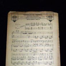 Partituras musicales: PARTITURA PARA CANTO Y PIANO CORO DE ESPONJAS Y SIGLO XX DE LA FANTASIA COMICO LÍRICA MARAVILLAS DEL. Lote 53735156