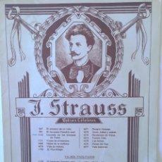 Partituras musicales: J. STRAUSS VALSES CÉLEBRES - CASA BOILEAU. Lote 53847260