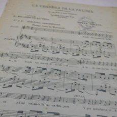 Partituras musicales: PARTITURA.TOMAS BRETON: LA VERBENA DE LA PALOMA REDUCCION FACIL PARA PIANO CON LETRA.Nº 5 B HABANERA. Lote 53892215