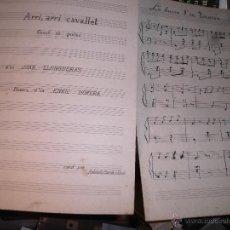 Partituras musicales: PARTITURAS MANUSCRITAS ANTIGUAS LOTE DE DOS. Lote 54044963