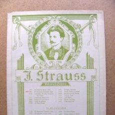 Partituras musicales: PARTITURA EL HERMOSO DANUBIO AZUL - VALSES CELEBRES 991 JOHANN STRAUSS - EDITORIAL DE MUSICA BOILEAU. Lote 54173569