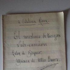 Partituras musicales: EL MISTERIO DE TUS OJOS -VALLS CANCION-LETRA BECQUER-MUSICA ULLES DAURA 1942. Lote 54266975