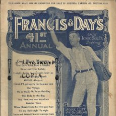 Partituras musicales: PARTITURA PIANO FRANCIS & DAY'S 41ST DANCE ALBUM WITH WORDS AÑO 1921. Lote 54350046