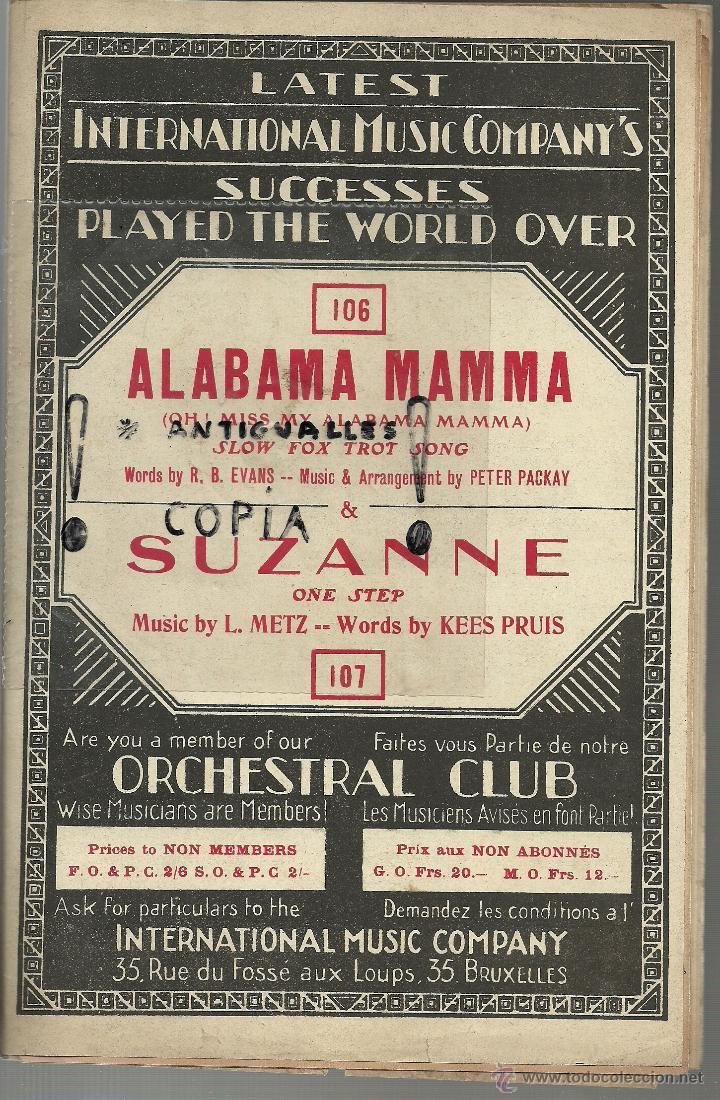 PARTITURA PIANO INTERNATIONAL MUSIC COMPANY'S STOMP WITH ME-SOLEDAD AÑO 1926,BRUSELAS (Música - Partituras Musicales Antiguas)
