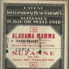 Partituras musicales: PARTITURA PIANO INTERNATIONAL MUSIC COMPANY'S STOMP WITH ME-SOLEDAD AÑO 1926,BRUSELAS. Lote 54350801