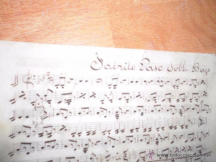 TORERO DE VALENCIA FABRILO PASODOBLE PARTITURA MANUSCRITA INEDITA CIRCA 1900 (Música - Partituras Musicales Antiguas)
