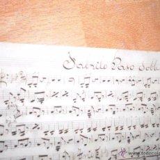 Partituras musicales: TORERO DE VALENCIA FABRILO PASODOBLE PARTITURA MANUSCRITA INEDITA CIRCA 1900. Lote 50417378