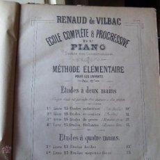 Partituras musicales: ESTUDIOS PARA PIANO DE RENAUD DE VILBAC -EDITADO EN FRANCIA NO PONE FECHA . Lote 54486423