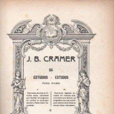 Partituras musicales: CRAMER : ESTUDIOS PARA PIANO II (BOILEAU). Lote 54708696