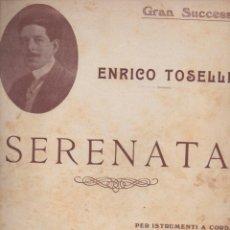 Partituras musicales: TOSELLI : SERENATA (MILANO, 1900). Lote 54718567