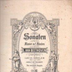 Partituras musicales: BEETHOVEN : SONATEN BAND II (PETERS). Lote 54718846
