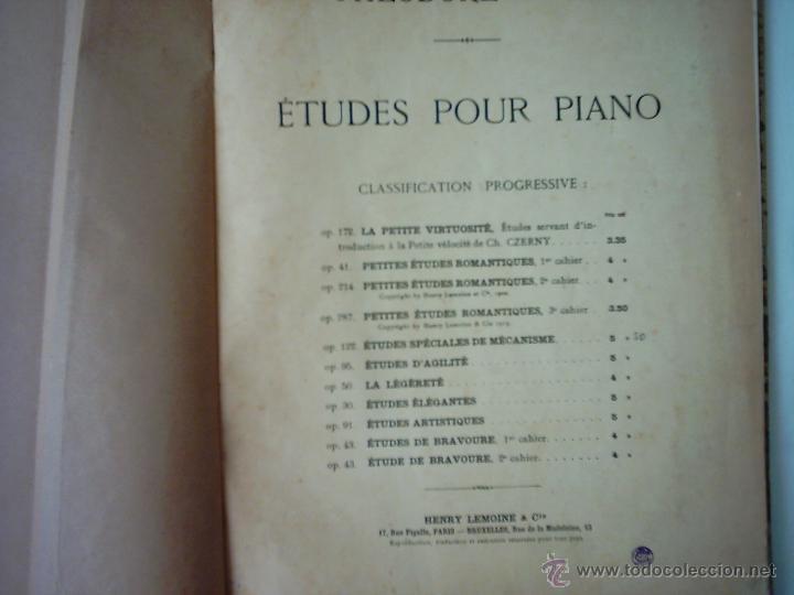 THÉODORE LACK. ÉTUDES POUR PIANO. CLASSIFICATION PROGRESSIVE. 1902. (Música - Partituras Musicales Antiguas)