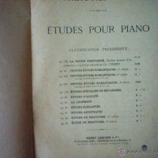 Partituras musicales: THÉODORE LACK. ÉTUDES POUR PIANO. CLASSIFICATION PROGRESSIVE. 1902.. Lote 54974571