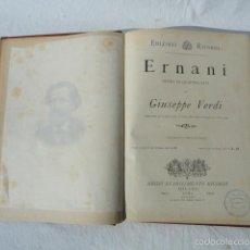 Partituras musicales: LIBRO PARTITURA PARA PIANO ERNANI DE VERDI.. Lote 55244811