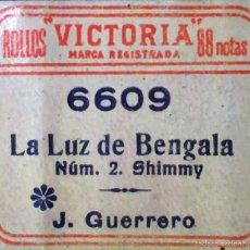 Partituras musicales: ROLLO PARA PIANOLA - JACINTO GUERRERO - LA LUZ DE BENGALA. Lote 88340635