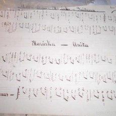 Partituras musicales: PARTITURA ANTIGUA MANUSCRITA VALENCIANAS POR JOSE RODRIGUEZ PRINCIPIOS DE SIGLO. Lote 56160206