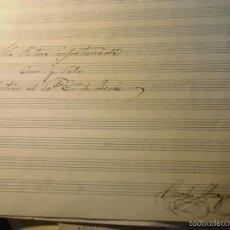 Partituras musicales: INEDITA PARTITURA MANUSCRITA ORIGINAL LA PATRIA INFORTUNADA CIRCA 1900 CORO Y SOLO FIRMADA ONOFRE. Lote 56160248