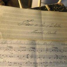Partituras musicales: FIESTA VALENCIANA MANUSCRITO PARTITURA PASO CABILA MARCHA ARABE FIRMA VILLAR CIRCA 1890. Lote 56274260