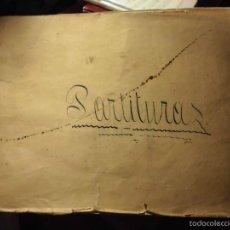 Partituras musicales: ANTIGUO LIBRO DE PARTITURAS MANUSCRITAS MUSICA CATALANA Y RELIGIOSA. Lote 56401742