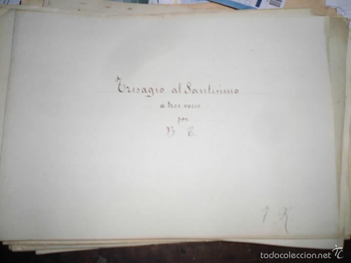 PARTITURA MANUSCRITA INEDITA TRISAGIO AL SANTISIMO. DE B. T. 10 PAGS CIRCA 1900 (Música - Partituras Musicales Antiguas)
