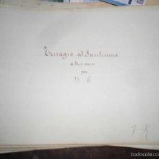 Partituras musicales: PARTITURA MANUSCRITA INEDITA TRISAGIO AL SANTISIMO. DE B. T. 10 PAGS CIRCA 1900. Lote 56596113